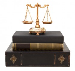 Scales of Justice on legal books
